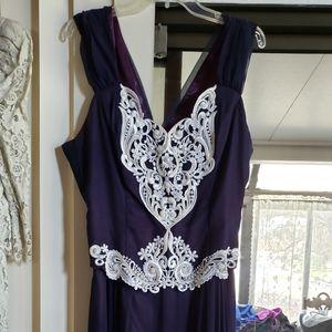 Vtg Jessica McClintock dress sz 12 w ruffled skirt